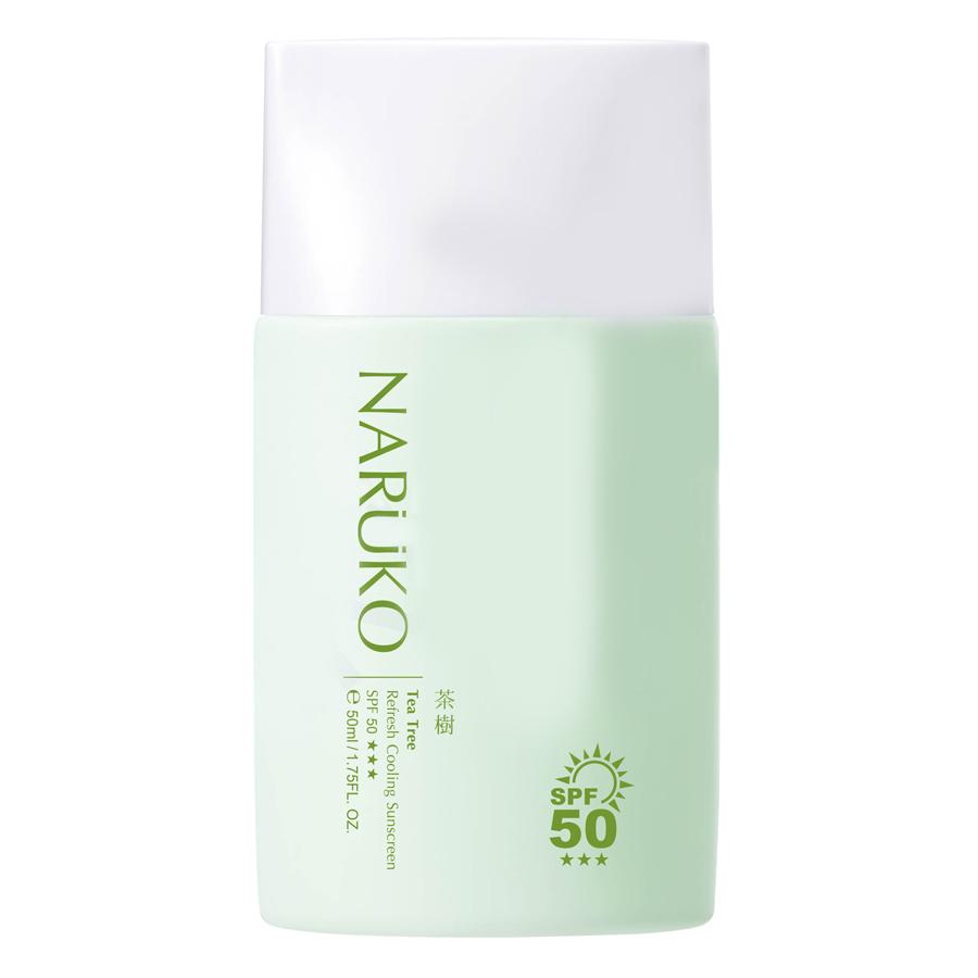 Naruko Trà Tràm - Kem Chống Nắng SPF50 Mát Lạnh Tea Tree Refresh Cooling Sunscreen SPF50 (50ml)