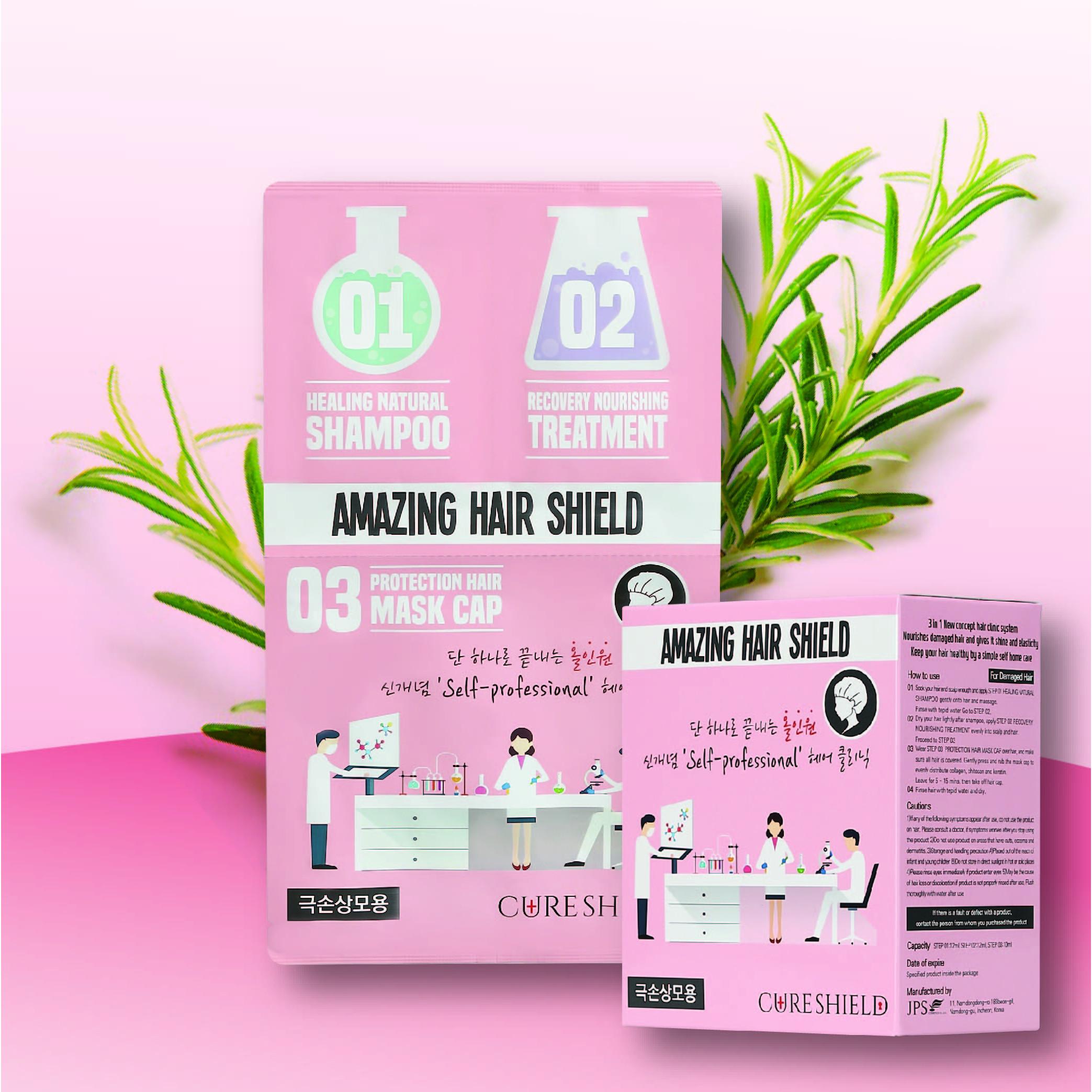 Mặt nạ 3 bước bảo vệ tóc hư tổn - Amazing Hair Shield