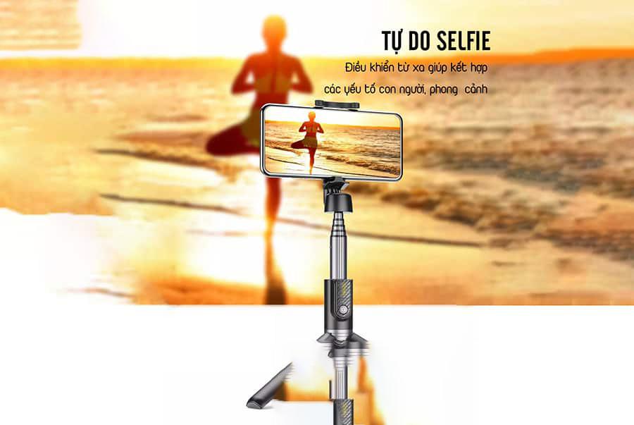 Gậy chụp ảnh selfie  Remax RL-EP03 có điều khiển từ xa - hàng chính hãng (giao màu ngẫu nhiên)