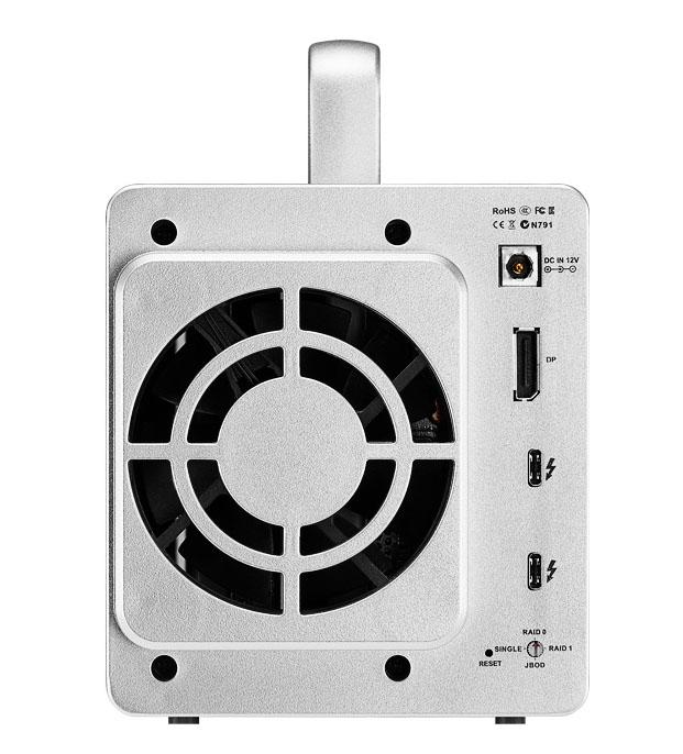 Bộ lưu trữ dữ liệu DAS TerraMaster D2 Thunderbolt 3 chuyên cho xử lý video và xử lý ảnh, 40Gbps, 2 khay ổ cứng RAID 0,1,JBOD,Single - Hàng chính hãng