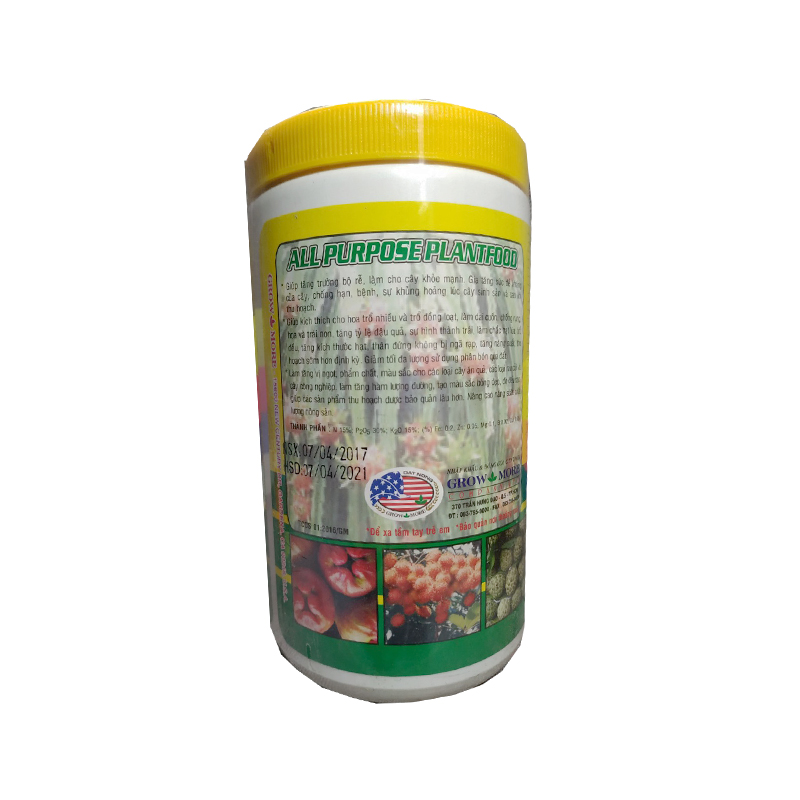 Phân bón Grow more 15-30-15 (500g/hũ) | Chuyên dùng cho hoa lan, hoa hồng, bonsai - dưỡng mọi giai đoạn