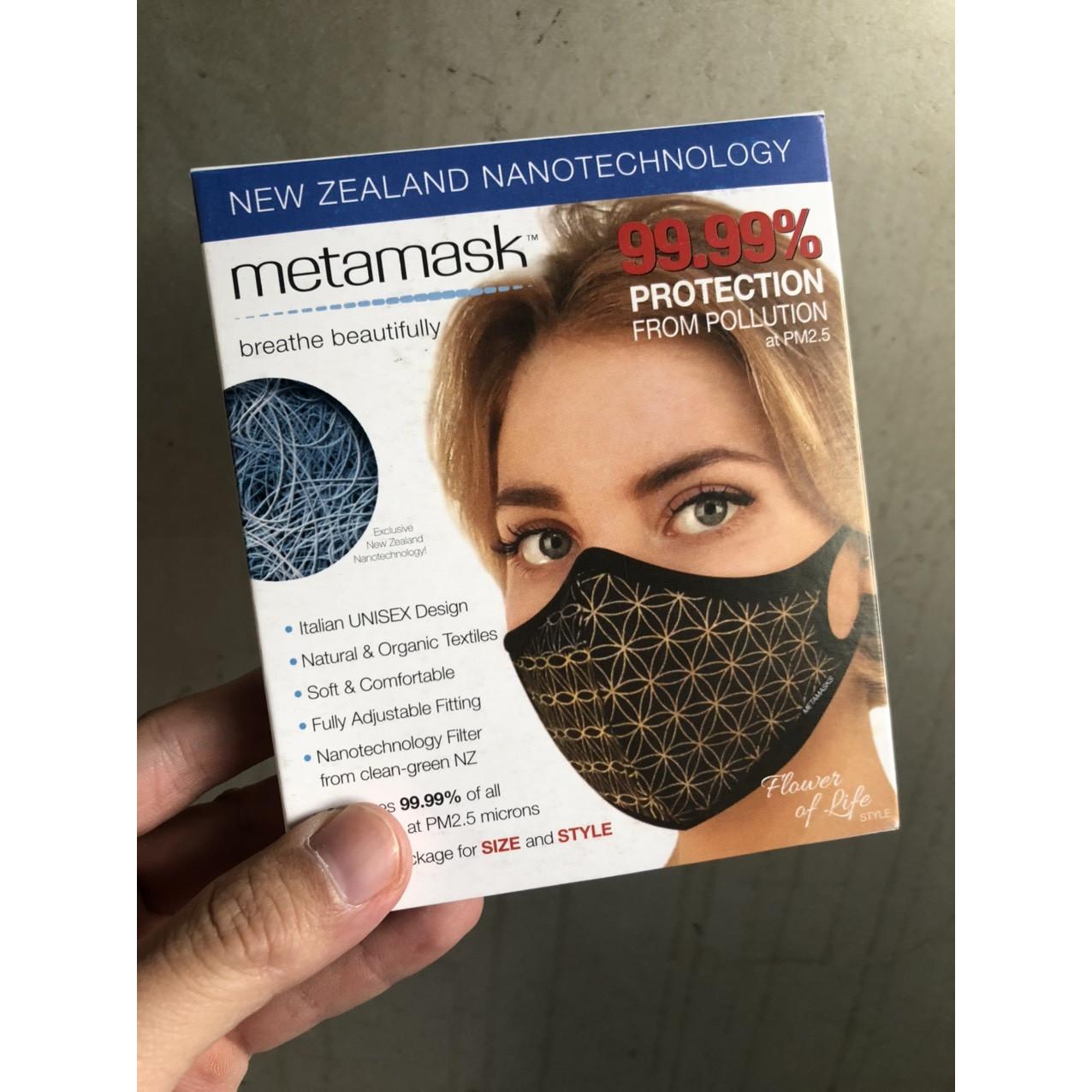 Khẩu Trang Cao Cấp Metamask - Ngăn Ngừa 99 Bụi Siêu Mịn PM2.5 Có Thể Thay Thế Màng Lọc, Có Thể Giặt Lại Được Phiên Bản Flower of Life - Hàng Chính Hãng - S