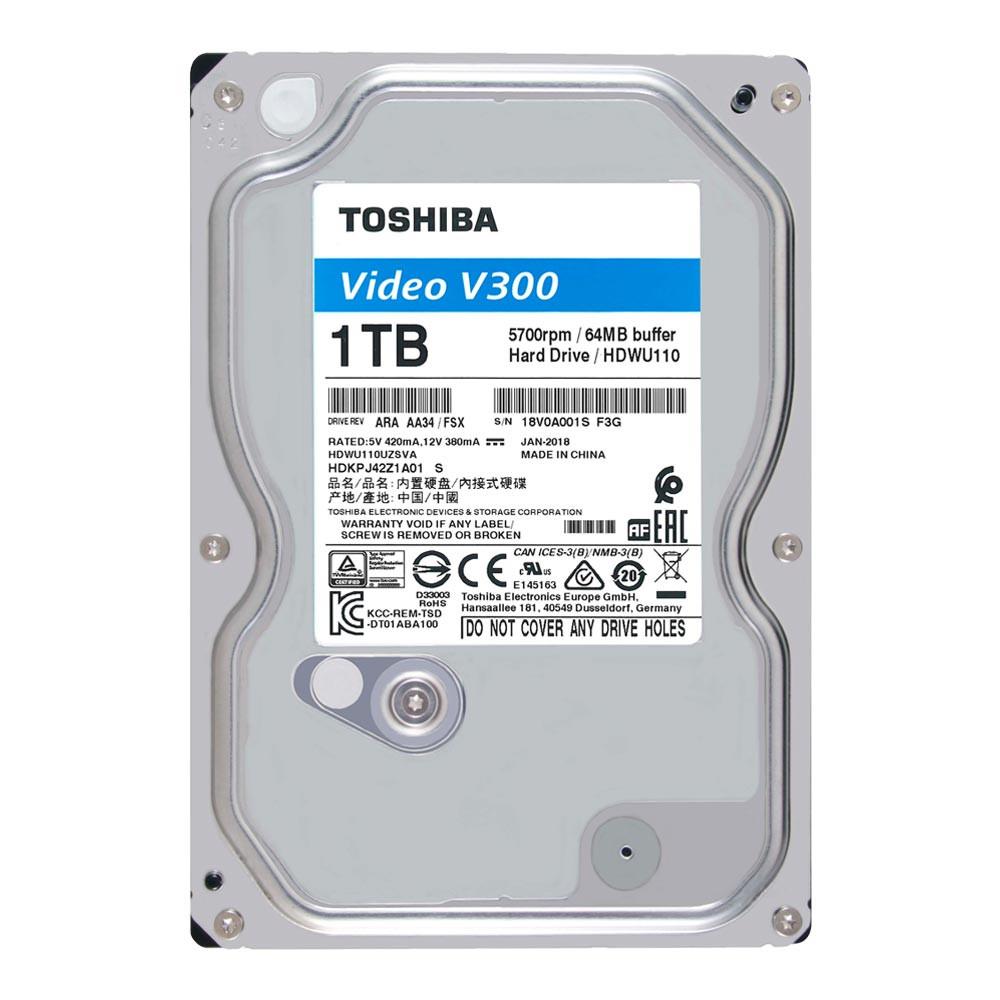 Ổ cứng HDD Toshiba 1TB VideoStream V300 series (64MB) 5700rpm SATA3 HDWU110UZSVA - Hàng Chính Hãng