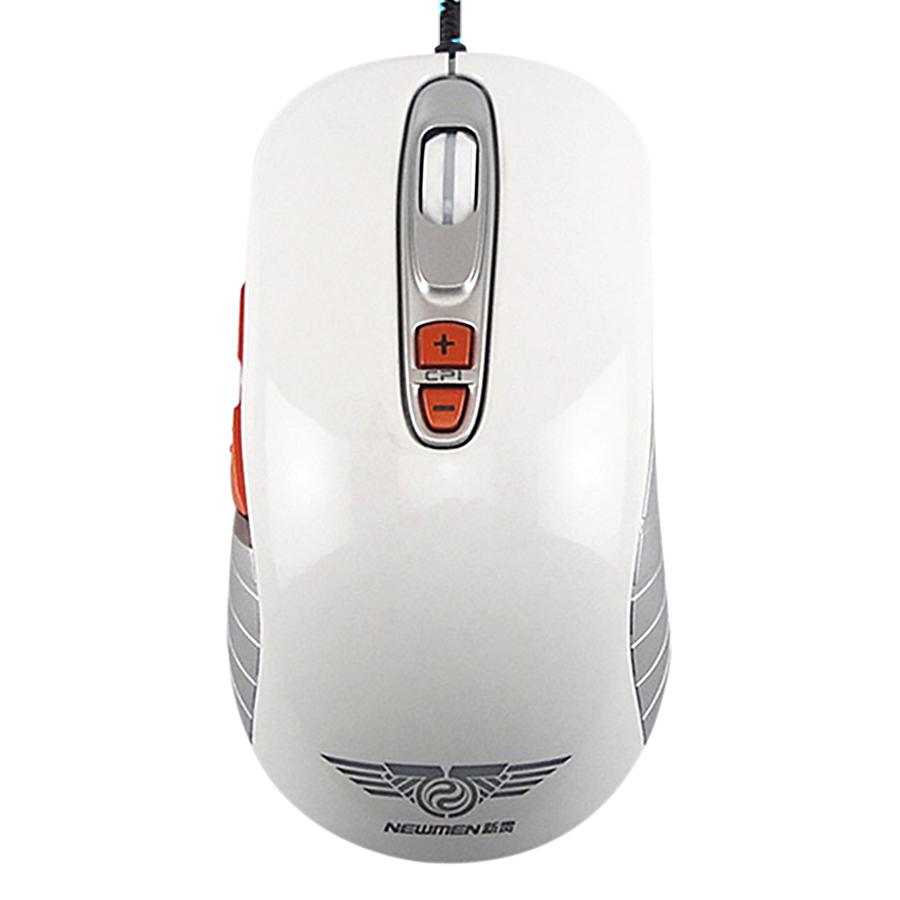 Chuột Chơi Game Có Dây Newmen GX1 Plus 500 - 4000DPI LED 6 Nút - Hàng Chính Hãng