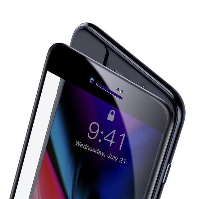 Miếng dán kính cường lực Full 3D cho iPhone 7 Plus / 8 Plus hiệu Baseus độ mỏng 0.3mm, bo sát viền, bảo vệ màn hình thiết bị - Hàng nhập khẩu