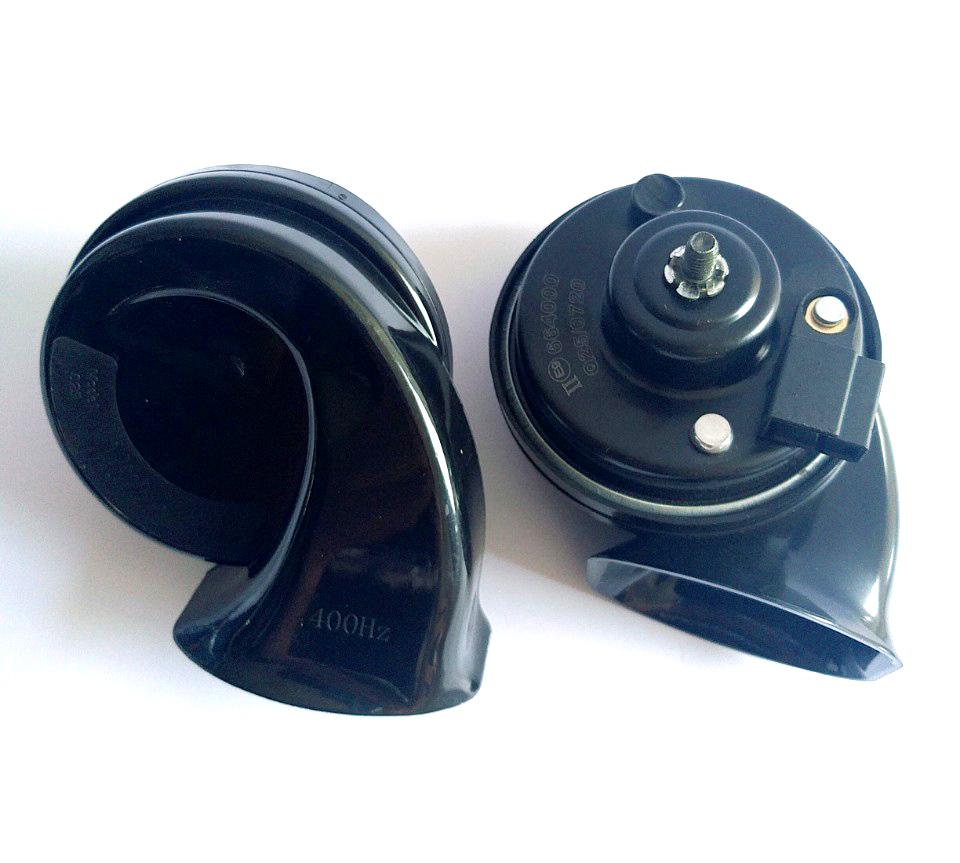 Bộ 2 còi sên ô tô hai giọng 400HZ/500HZ cho xe 12V kèm giắc còi