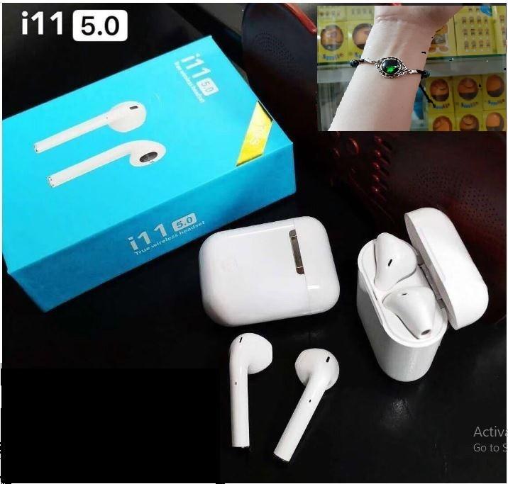 Tai Nghe Bluetooth Bản cảm ứng Không Dây i11 TWS - Hàng chính hãng - Tặng vòng tay Ruby