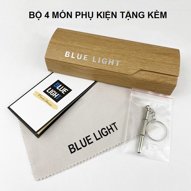 Kính Giả Cận, Gọng Kính Cận Nam Nữ Mắt Tròn Khung Ngang Trong Suốt Không Độ Hàn Quốc - BLUE LIGHT SHOP