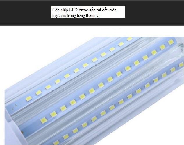 Bộ 10 bóng đèn led chữ U 9w sáng bền đẹp