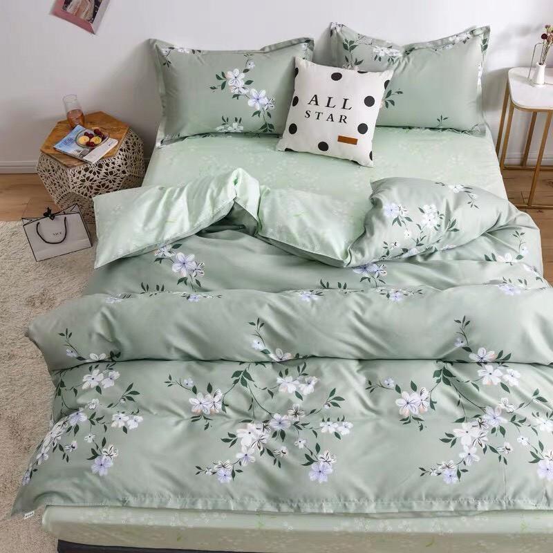 Bộ chăn ga 4 món cotton Poly cao cấp đủ size nhiều mẫu (không kèm ruột) TCA6
