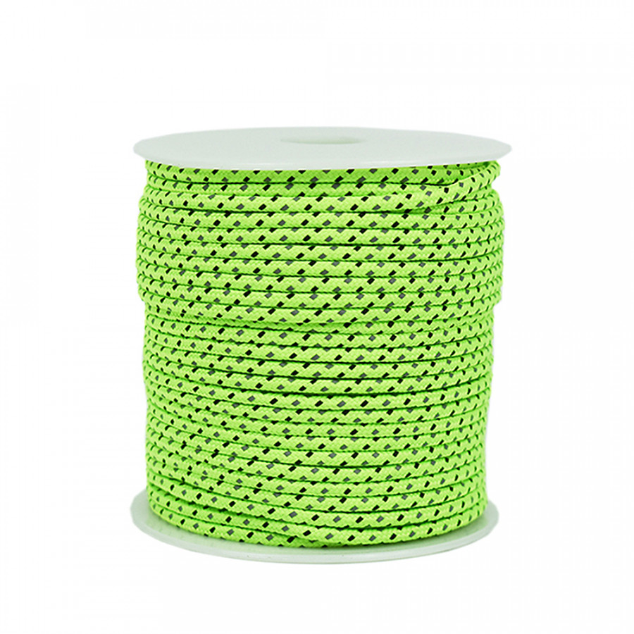 50m Reflective Rope Paracord Outdoor Gear Lanyard 1 Inner Strand Parachute Core For Camping Tent Awning 2.5mm