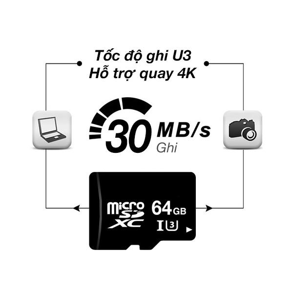 Thẻ nhớ microSDXC 64GB OEM tốc độ class 10 U3