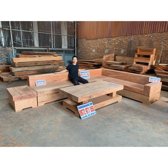 Sofa nguyên khối gỗ Hương Đá