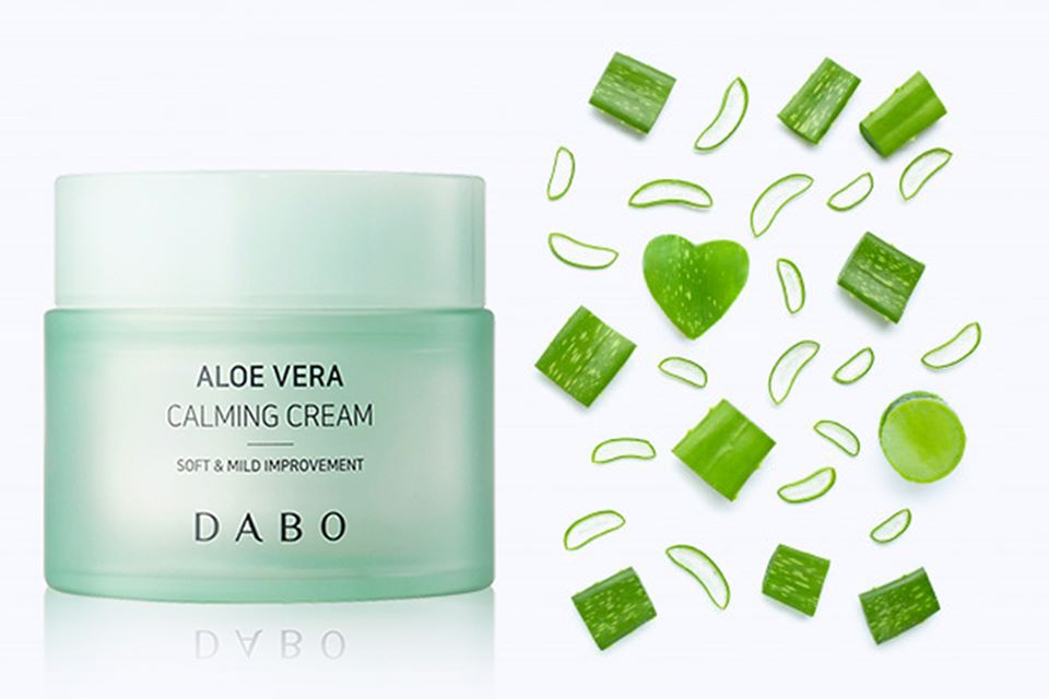 Kem dưỡng trắng da Lô Hội cao cấp Dabo Aloe Vera Calming Cream ( 50ml )
