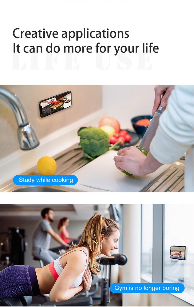 Miếng Dán Đa Năng Gel Pad Nano Silicone Sticker Trong Suốt Siêu Dính
