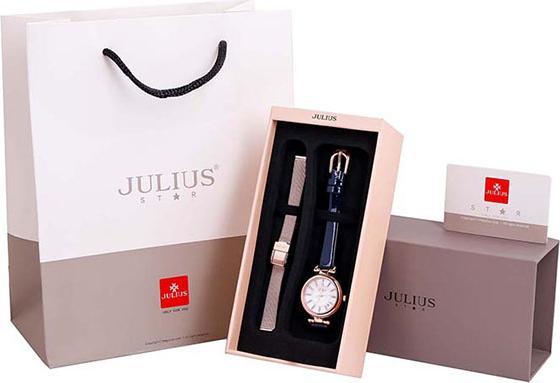 Đồng Hồ Nữ Julius Star Hàn Quốc JS-016C Dây Da Màu Xanh