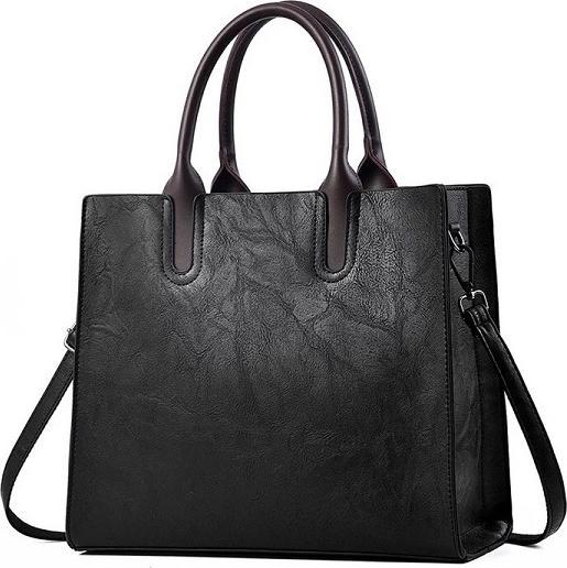 Túi xách tay nữ công sở mẫu form đứng 2019, có dây đeo chéo - Đen