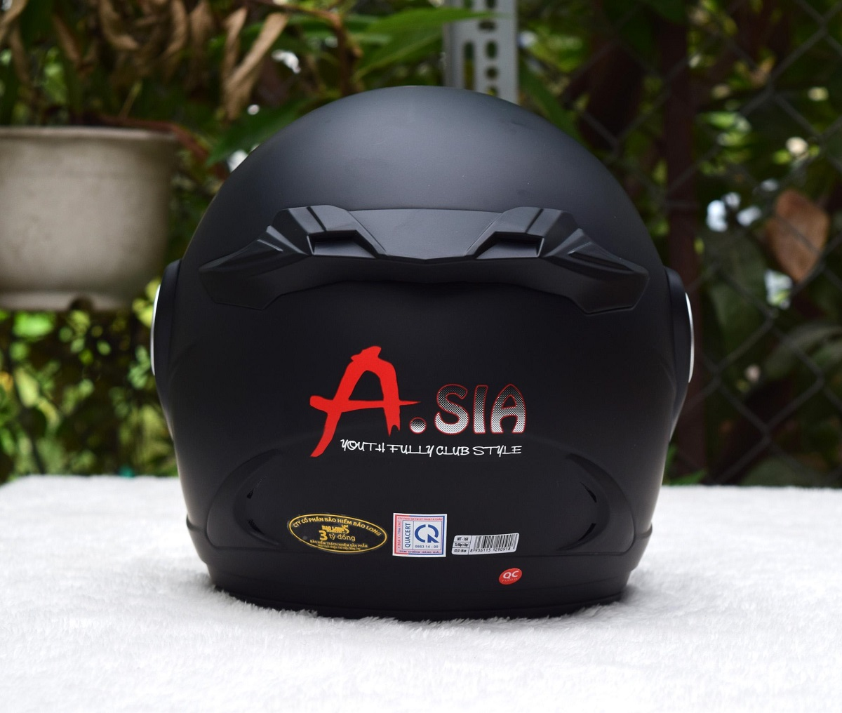 Mũ Bảo Hiểm Asia MT168 Đen Nhám Size L