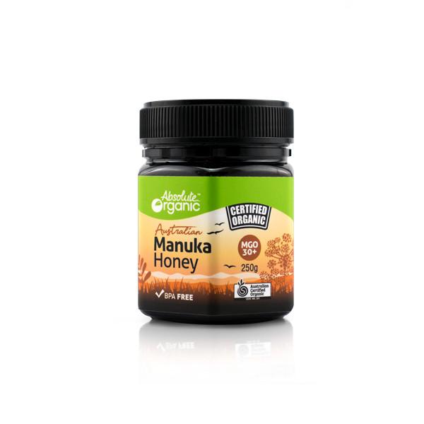 Mật ong hoa Manuka Absolute Organic Australian Manuka Honey MGO 30+ ( 250g ) - Nhập khẩu Australia