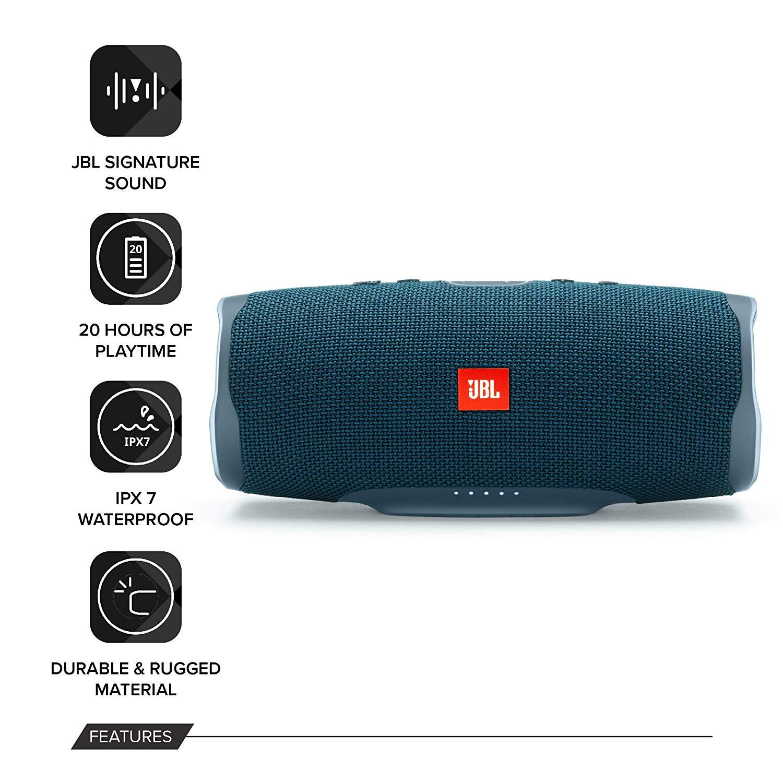 Loa Bluetooth JBL Charge 4 30W (màu xanh) - Hàng Nhập Khẩu