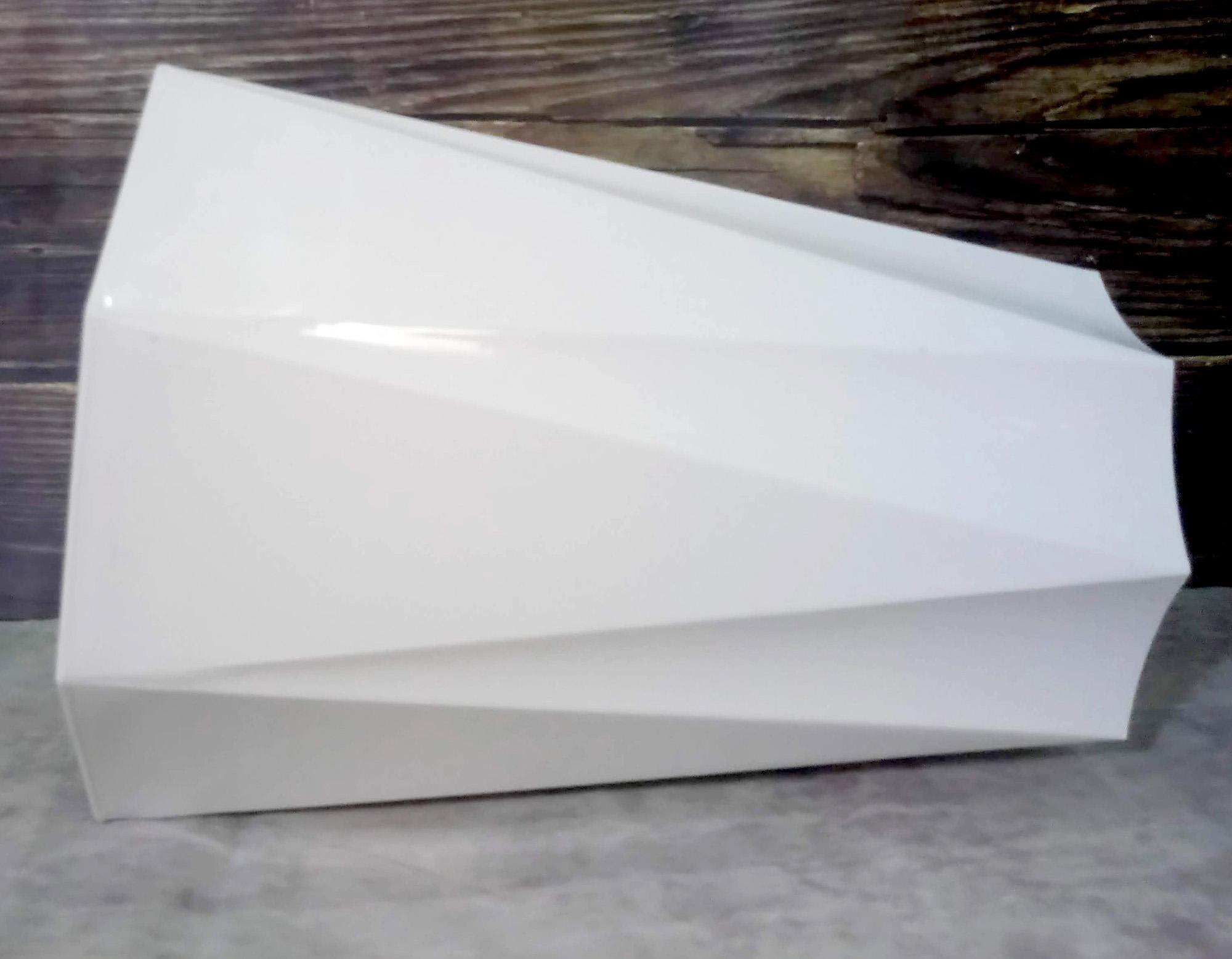 Chậu Nhựa Trồng Cây Tám Cạnh Giả Sứ Cao Cấp (25x16x32cm) - Thiết Kế Tinh Xảo, Bền Đẹp Thích Hợp Trồng Cây Cảnh, Cây Ăn Quả, Chất Liệu Nhựa ABS Cao Cấp - Hàng VNXK Châu Âu