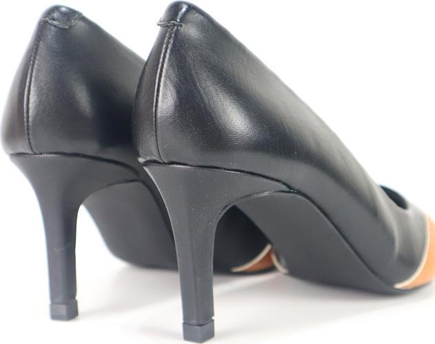 Giày Cao Gót Mũi Nhọn Phối Màu Cillie 1004