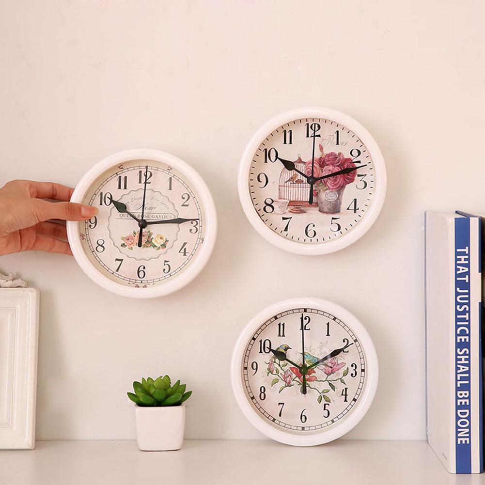 Đồng hồ treo tường tròn sáng tạo phong cách Châu Âu (đk 15cm) - 1 cái - giao ngẫu nhiên
