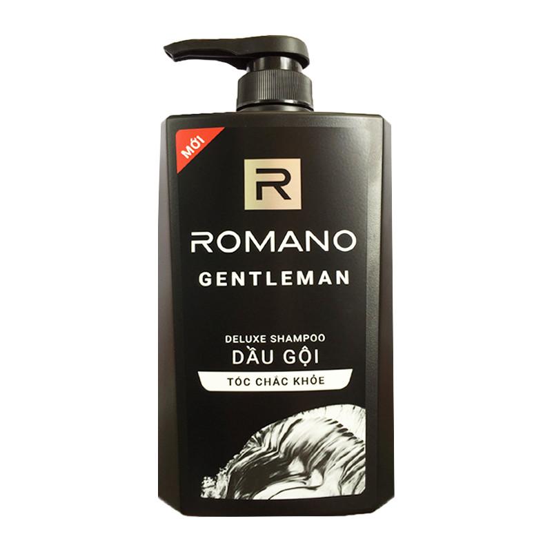 Dầu gội Romano GENTLEMAN cho tóc chắc khỏe chai 650ml+Tặng kèm Tắm gội 2in1 100g