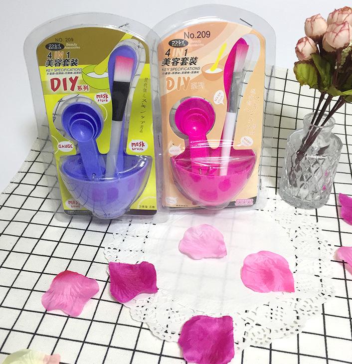 Combo 4 món dụng cụ trộn mặt nạ 4 In 1 DIY (Màu Ngẫu Nhiên)