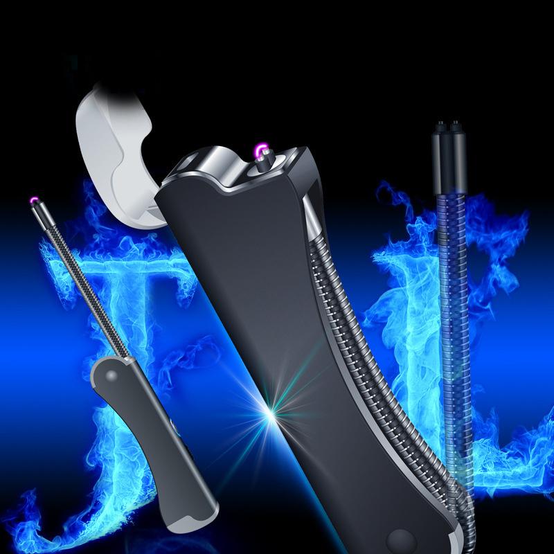 Bật lửa đốt nến điện dạng que mồi lửa thay thế hộp quẹt gas đầu xoay 360 độ sử dụng sạc USB phóng tia plasma