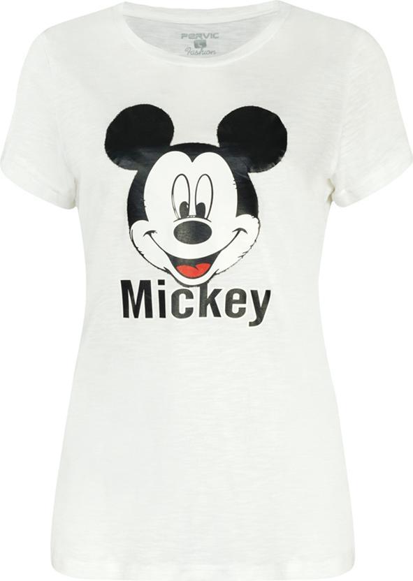 Áo Thun Nữ Mickey Xinh Xắn PERVIC VM090 - Trắng Size M