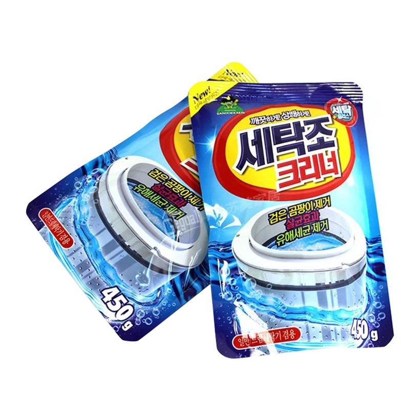 Gói bột tẩy vệ sinh lồng máy giặt Sandokkaebi 450g Hàn Quốc - Nhập khẩu chính hãng