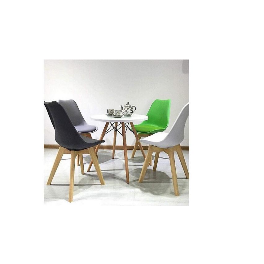 Bộ Bàn Ăn Eames và 4 ghế có nệm 60x60