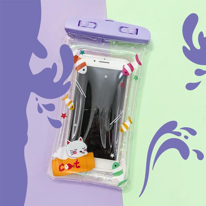 Túi đựng điện thoại chống nước - Có viền phao và hình đáng yêu ( giao hình ngẫu nhiên )