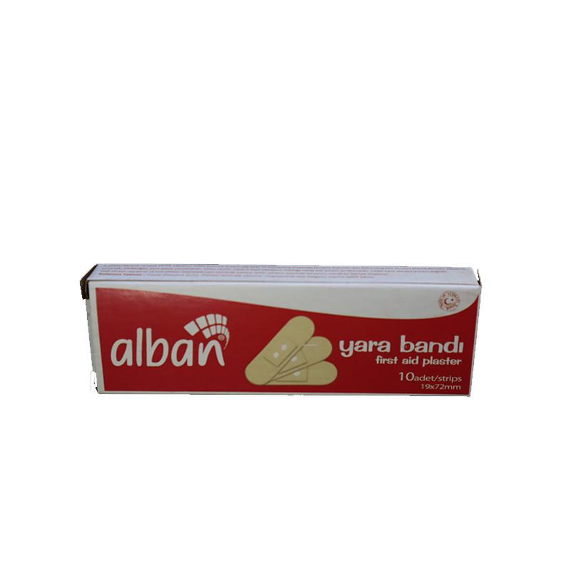 Bộ 5 Hộp x 50 Miếng Băng cá nhân ALBAN [Hộp Nhỏ Tiện Dụng Bỏ Bóp] Lành vết thương, bảo vệ vô khuẩn, Kích thước 19 x 72 mm