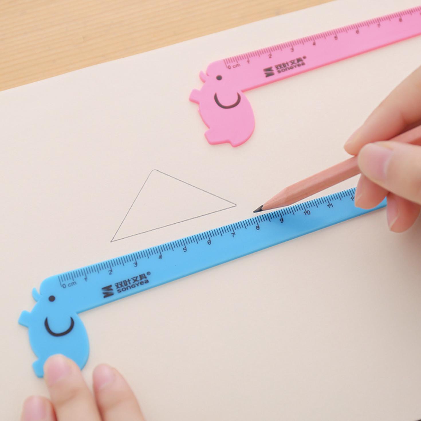 Thước Kẻ Học Sinh Hình Hươu Cao Cổ Cute - Thước Kẻ Nhựa Chiều Dài 15cm ( phát ngẫu nhiên )