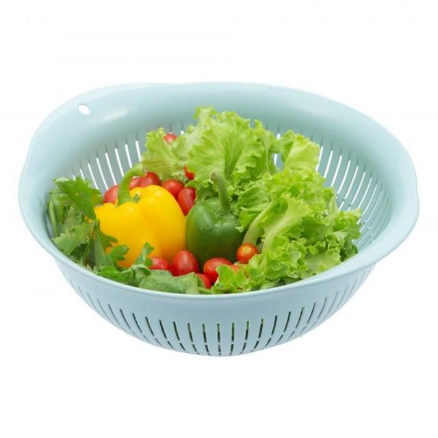 Rổ Nhựa Cao Cấp Yoko Inochi Nhật Bản - An toàn cho sức khoẻ - Kháng khuẩn khử mùi đảm bảo an toàn vệ sinh thực phẩm - Size 23, 30, 35cm - Giao Màu Ngẫu Nhiên