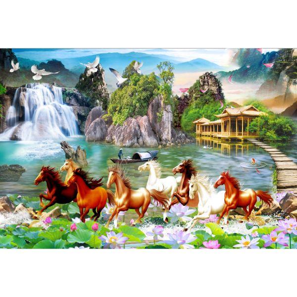Decal Dán Tường Mã Đáo Thành Công - Tranh Dán Tường Ngựa - T3M-28074