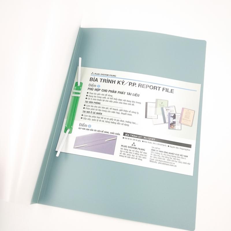 Bộ 2 Bìa Trình Kí Plus 82-V03 - Màu Xanh