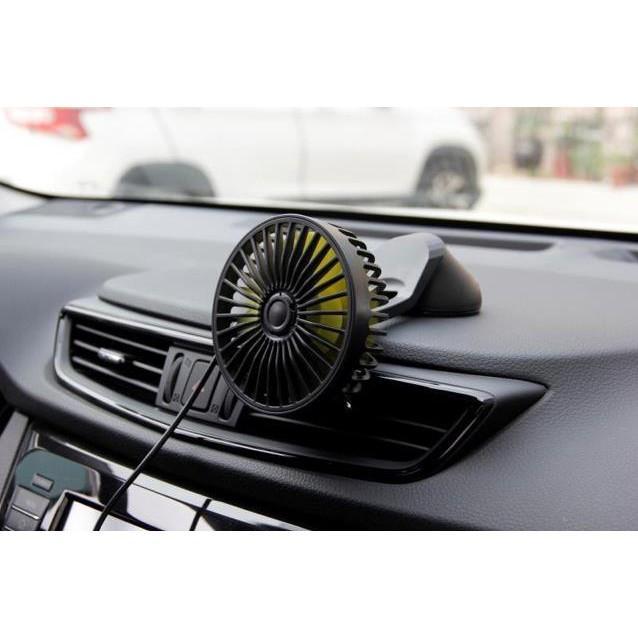 quạt đôi mini 12v cắm tẩu usb trên ô tô - quạt siêu mát cực thơm Bảo Hành Uy Tín Lỗi 1 Đổi 1