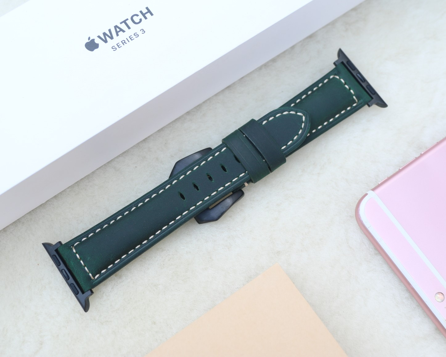 Dây Da Đồng Hồ Da Bò Sáp Vintage, Dây đeo bằng da cổ điển thay thế dành cho Apple 1,2,3,4,5,6 - Đồng Hồ cổ Điển - Các Loại Swatch