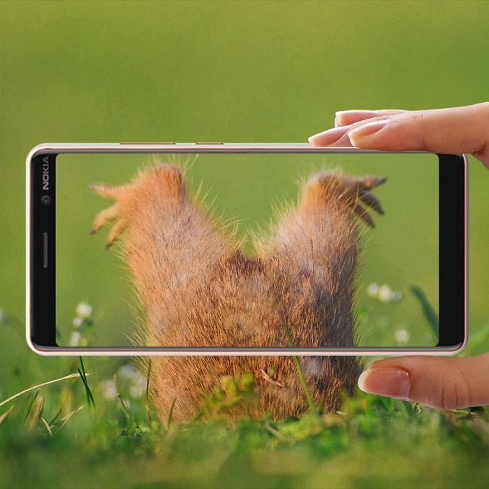 Dán kính cường lực full 5D tràn màn hình dành cho Nokia 7 Plus