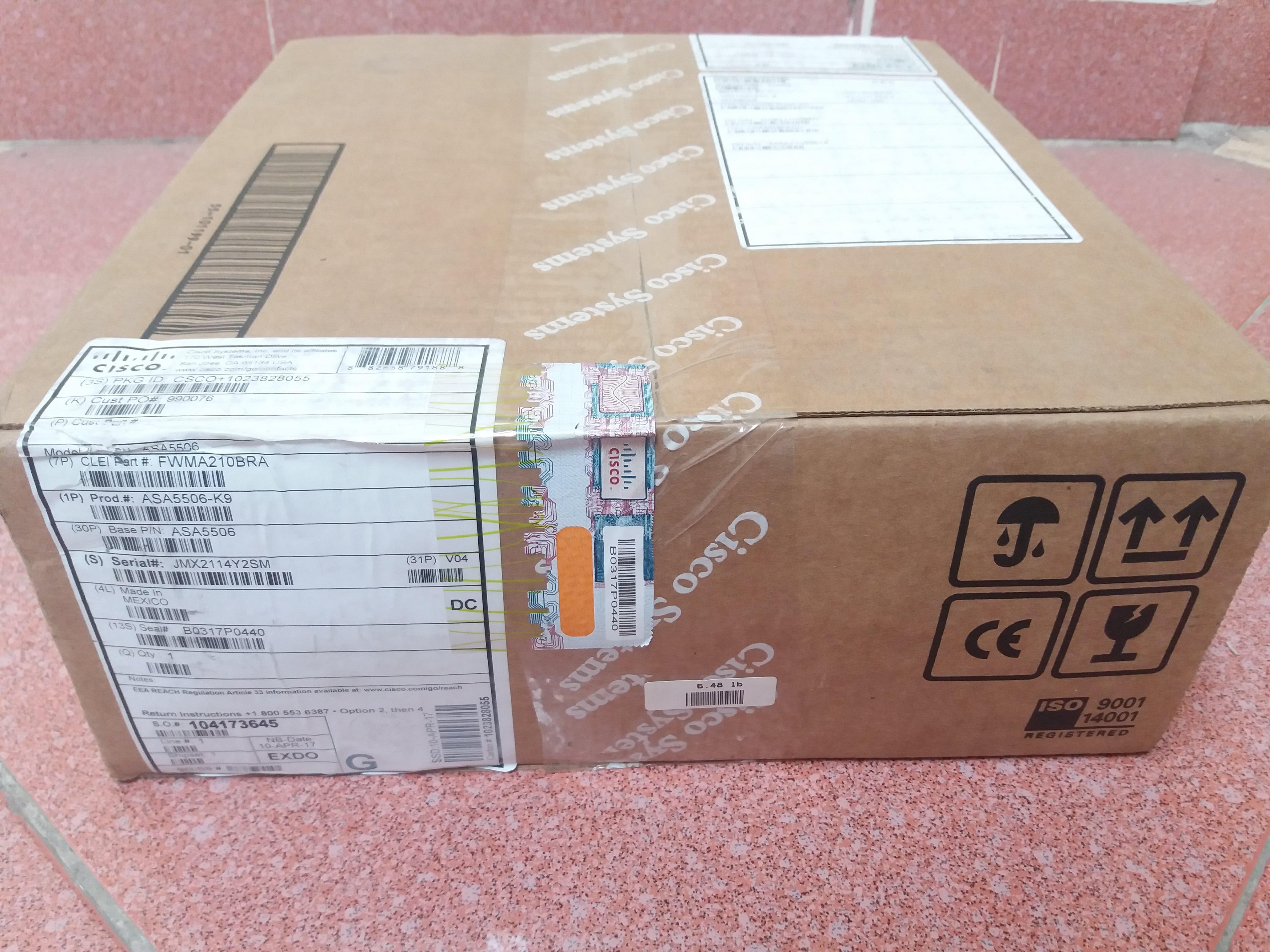 Tường lửa ASA5506-K9 Cisco ASA 5506-X - Hàng nhập khẩu