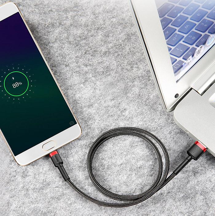 Cáp sạc dây dù Micro USB chính hãng Baseus Cafule Cable dài 1m (màu ngẫu nhiên)