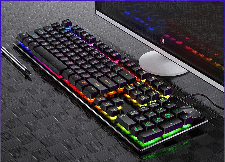 Bàn phím giả cơ có đèn led 7 màu (BH 3 tháng)