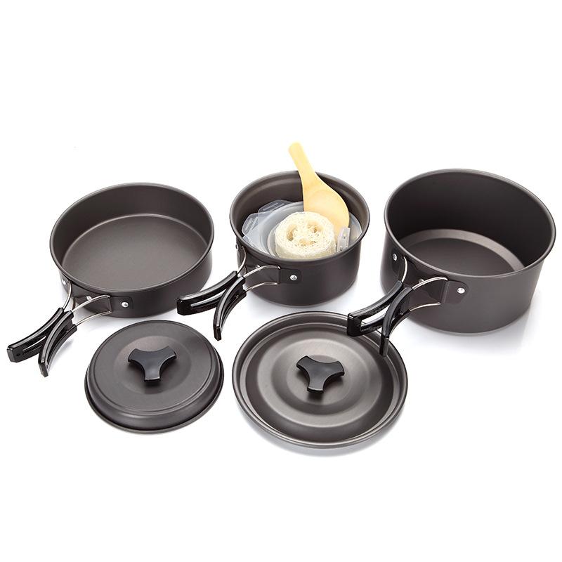 Bộ Nồi Nấu Ăn Cắm Trại – Du Lịch Dã Ngoại 2-3 người