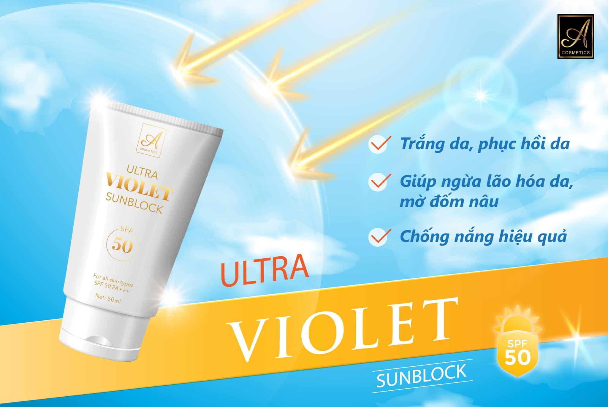 [Chính Hãng] kem chống nắng A cosmetic ultra violet sunblock mỹ phẩm Phương Anh