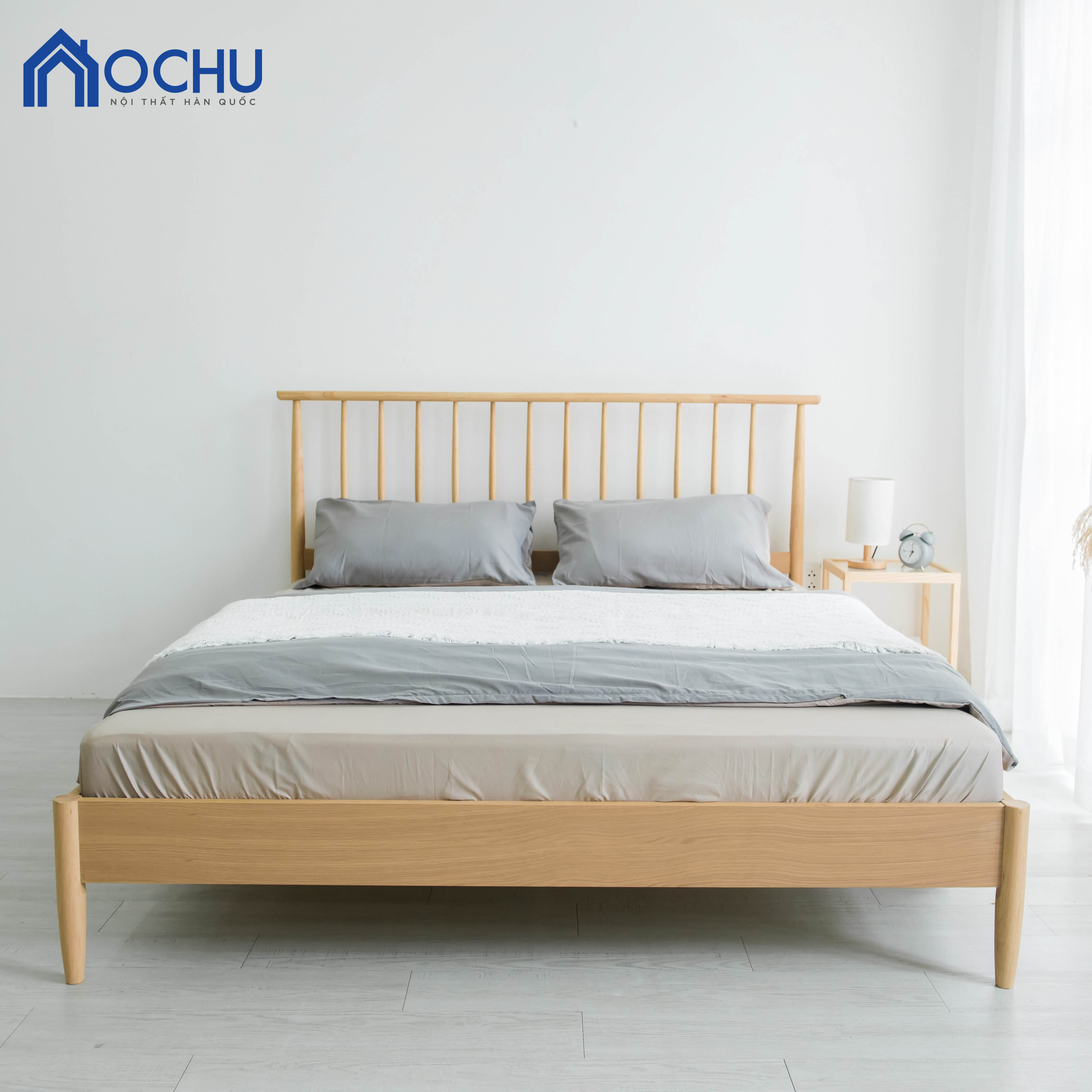 Giường Ngủ Gỗ Cao Su OCHU - Funky Bed - Natural
