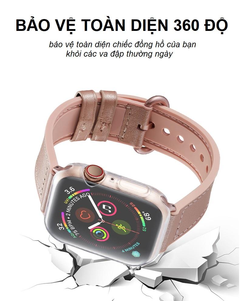 Bộ 2 Case Ốp Dẻo Silicon Dành Cho Apple Watch 44mm Series 4 (Chống Va Đập Trầy Xước, Chống Bụi, Bảo Vệ Viền Và Mặt Đồng Hồ)