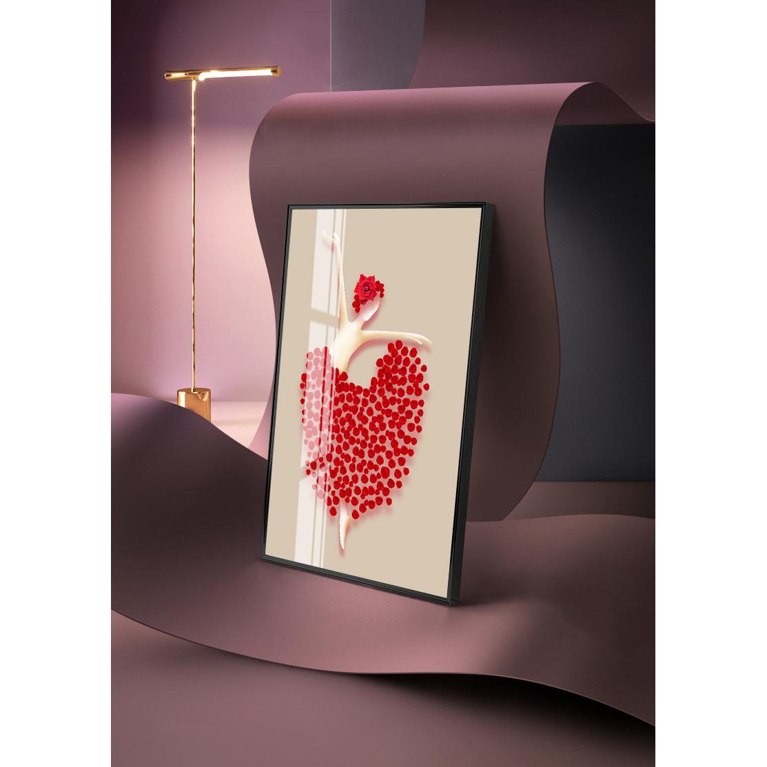 Tranh trang trí Mica 3 bức Chân son gót ngà hoa hồng nhung tông đen trừu tượng (Nghệ thuật). Model: AZ3-0077. Khung nhôm hoặc Composite. Hình ảnh sắc nét, sang trọng, phù hợp nhiều không trang trí